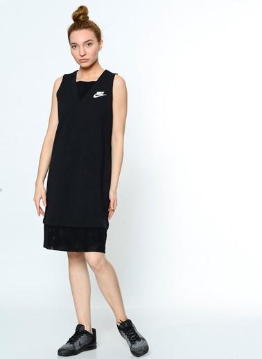 Askılı Diz Boyu Elbise-Nike